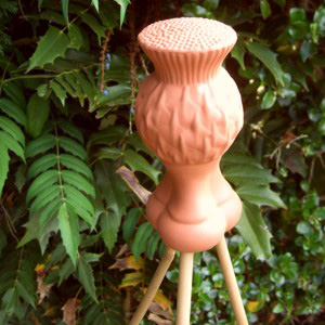 Terracotta Wine Keepers Australia Cane Finial - Thistle