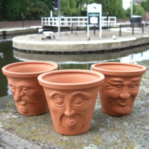 Face Pot - Set of 3