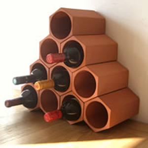 Keystone 10-Bottle Wine Rack Section