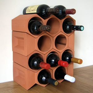 Keystone 12-Bottle Wine Rack Section