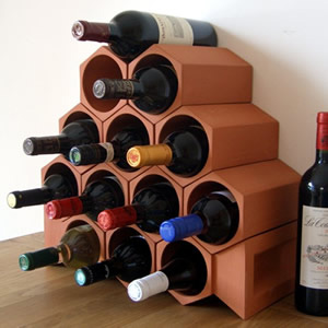 Keystone 13-Bottle Wine Rack Section