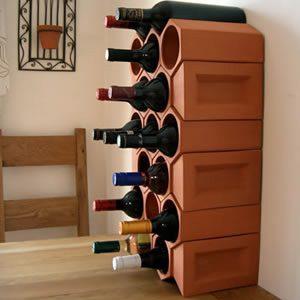 Keystone 17-Bottle Wine Rack Section