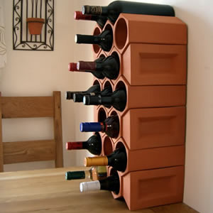 Keystone 17-Bottle Wine Rack Section