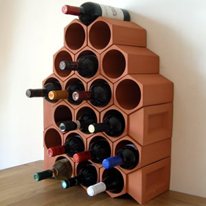 Keystone 20-Bottle Wine Rack Section