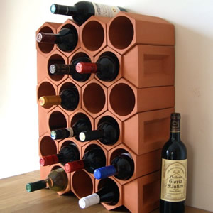 Keystone 24-Bottle Wine Rack Section