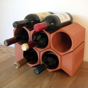 Keystone 7-Bottle Wine Rack Section
