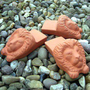 Lions Head Pot Feet (set of 3)