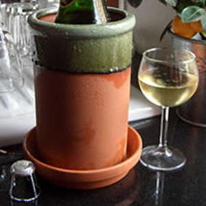 Round Wine Cooler AppleGlaze with Saucer