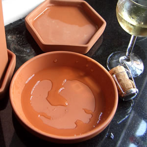Terracotta Round Wine Cooler Saucer