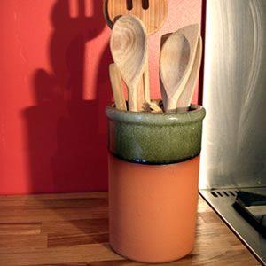 Utensil Jar – Apple Glaze