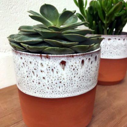 terracotta chamfer cache pot