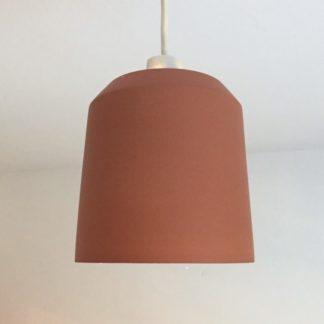 0001601 chamfered pendant light shade terracotta